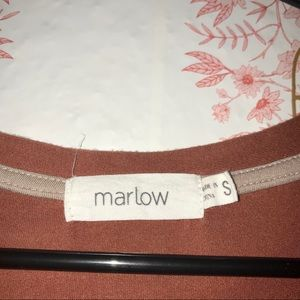 Marlow Tops - Marlow: Burnt Orange VNeck Shirt